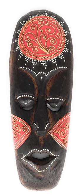 """Tribal Tiki Mask 12"""" Red - Tattoo Primitive Art   #wib370230r"""