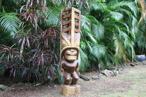 "Premium Tiki Akua Kai 60"" - Art Gallery Grade - Hawaiian Heritage"