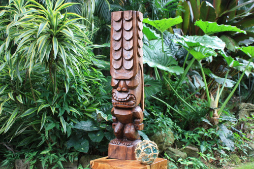 "Tiki Kona Style Kane 32"" - Stained Hawaii Museum Replica"