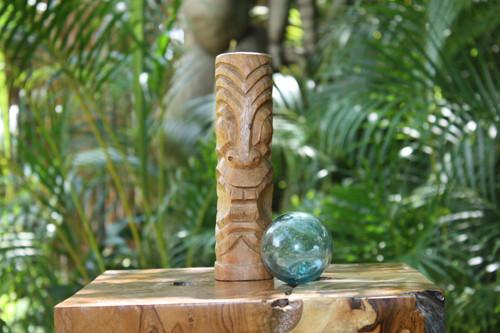 """Big Island Tiki Totem 8"""" Natural - Hawaiian Tiki Bar Decor"""