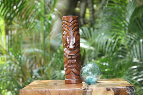 "Big Island Tiki Totem 8"" Stained - Hawaiian Tiki Bar Decor"