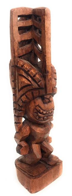 "Tiki Akua 12"" - Hawaii Museum Replica Stained - Hawaii Heritage"