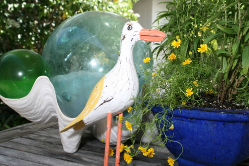 """SEAGULL BIRD"" - RUSTIC YELLOW COASTAL 14"" - GARDEN/HOME DECOR 2"