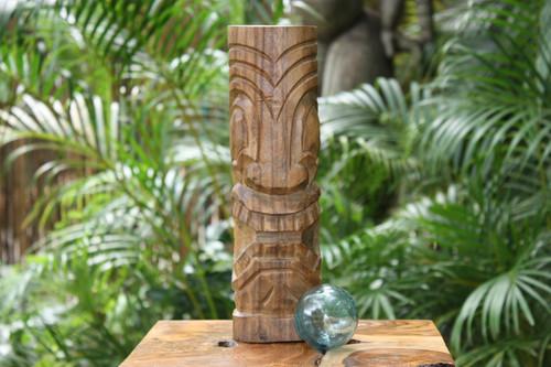 """Big Island Tiki Totem 12"""" Natural - Tropical Decor"""