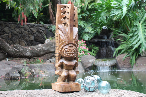 "Tiki Akua 20"" - Hawaii Museum Replica - Hawaii Heritage 2"