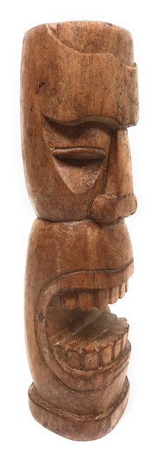 "Makaha Tiki Totem 8"" Natural - Hawaiian Tiki Bar Decor 
