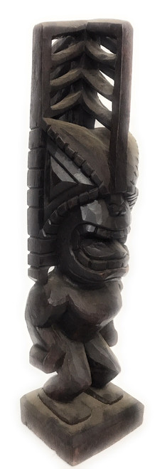 "Tiki Akua 20"" - Walnut Stain - Hawaii Museum Replica | #yda1101750b"