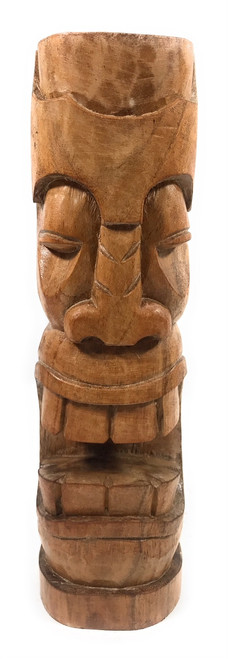 "Makaha Tiki Totem 12"" Natural - Tropical Decor 