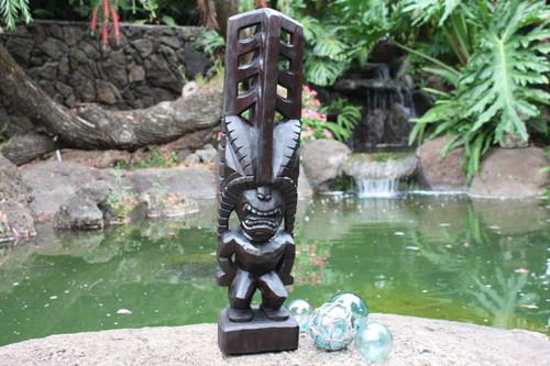"Tiki Akua 24"" - Walnut Stain - Hawaii Museum Replica - Island Heritage"