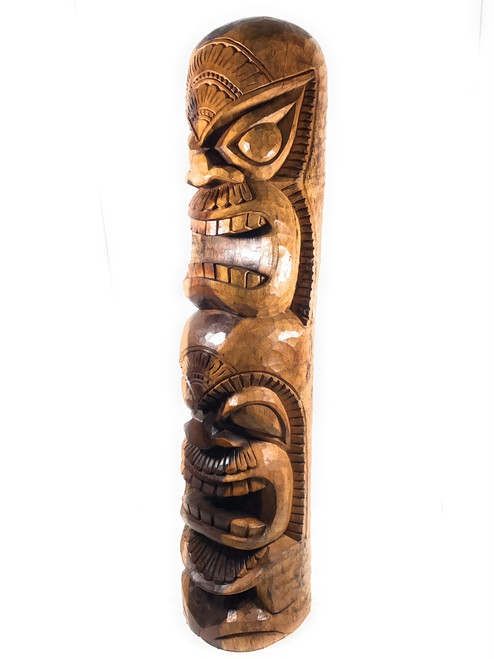"Premium Love Tiki Totem Pole 48"" - Outdoor Decor 