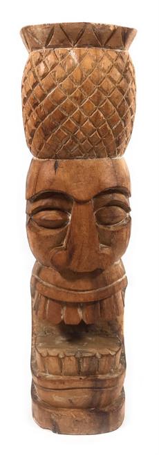 "Pineapple Tiki Totem 12"" Natural - Hospitality Tiki | #yda1101230"