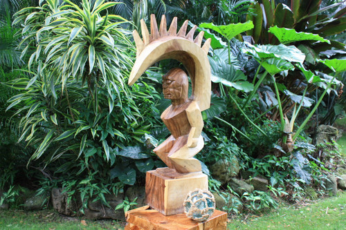 "Tiki Goddess Pele - 20"" Hand Carved Replica - 