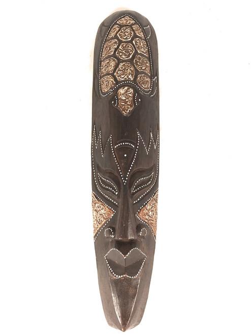 "Tribal Chief Tiki Mask 20"" w/ Turtle - Primitive Art | #wib370650f"