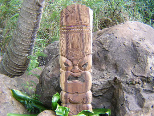 "Ku Tiki Mask 40"" - Hand Carved Hawaii 