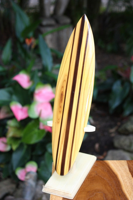 "Classic Surfboard Natural w/ Vertical Stand 12"" - Trophy 