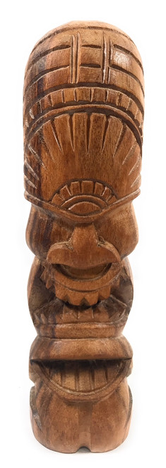 "Love Tiki Totem 12"" Natural - Hand Carved 