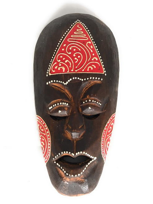 "Tribal Tiki Mask 8"" Red - Tattoo Primitive Art 