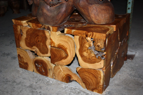 "Teak Root Coffee Table 32"" X 24"" X 18"" - Bali Art Decor"