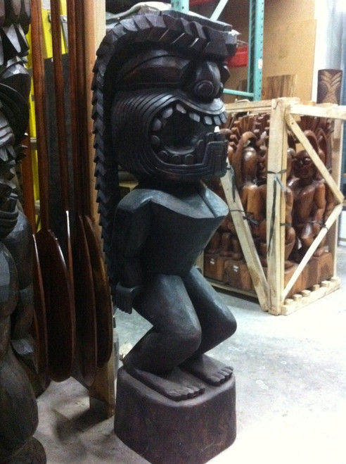 """Tiki Kanaloa Hawaii Museum 48"""" Stained - Replica"""