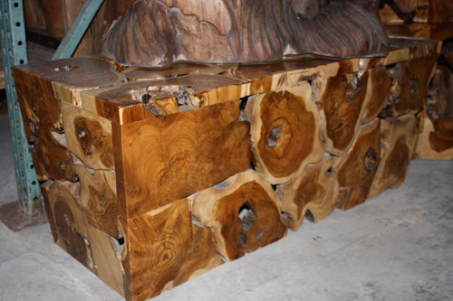 "Teak Root Coffee Table 20"" X 48"" X 20"" - Bali Art Decor"