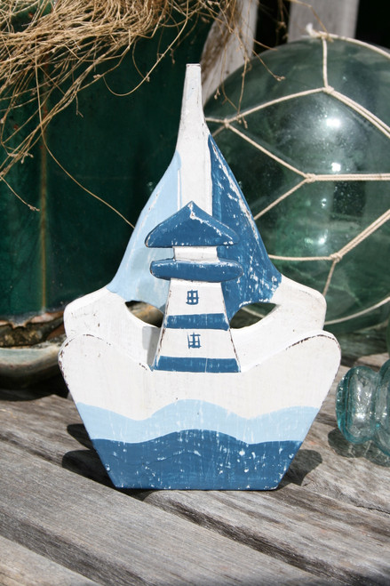 "NAUTICAL NAPKINS HOLDER BLUE 8"" - NAUTICAL DECOR"
