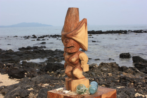 "Ku Kona-Style Tiki 20"" - Natural - Traditional Hawaii Museum Replica"