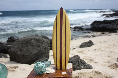 "Classic Stringer Surfboard 20"" - Surf Decor Hawaii - Trophy 