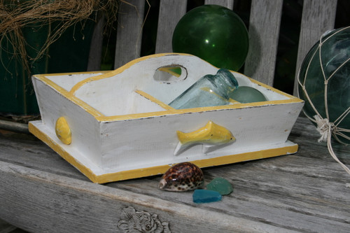 "DIVIDER TRAY 6 SECTIONS 16"" - YELLOW NAUTICAL DECOR"