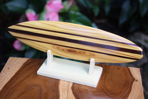 "Classic Surfboard Natural w/ Horizontal Stand 12"" - Trophy 