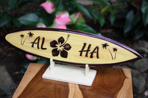 "Classic Surfboard Aloha w/ Hibiscus 16"" - Trophy | #wai350240f"