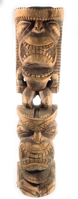 "Premium Stacked Tiki Lono and Kanaloa 48"" - Hawaii Museum   #yda11023120"