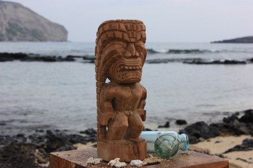 "Kuka Ilimoku Figure Tiki 12"" - Hawaiian Museum Replica - Hawaii Mythology"