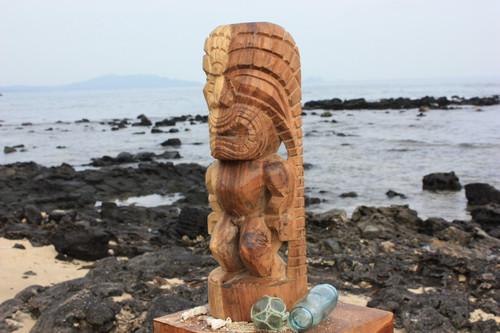 """Tiki God Of King Kamehameha 20"""" - Kuka Ilimoku - Natural"""