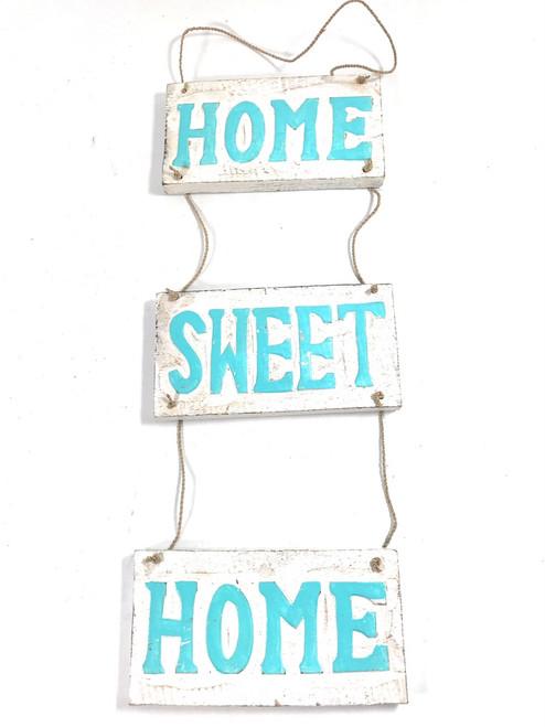 """Home Sweet Home"" Hanging Beach Sign 20"" X 6"" | #nik3214"