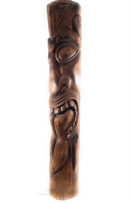 "Maori Tiki Totem Pole 60"" - Royal Palm Natural 