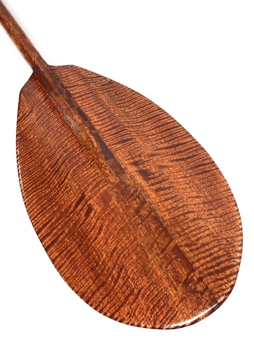 "AAA Grade Tiger Curls Koa Paddle 60"" - Made in Hawaii 