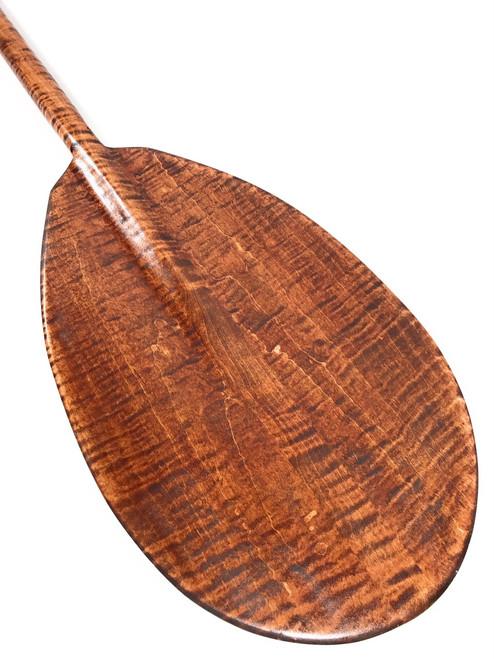 """Wall Hanging Paddle 60"""" Steersman - Blonde Tiger Curls   #koa6090"""