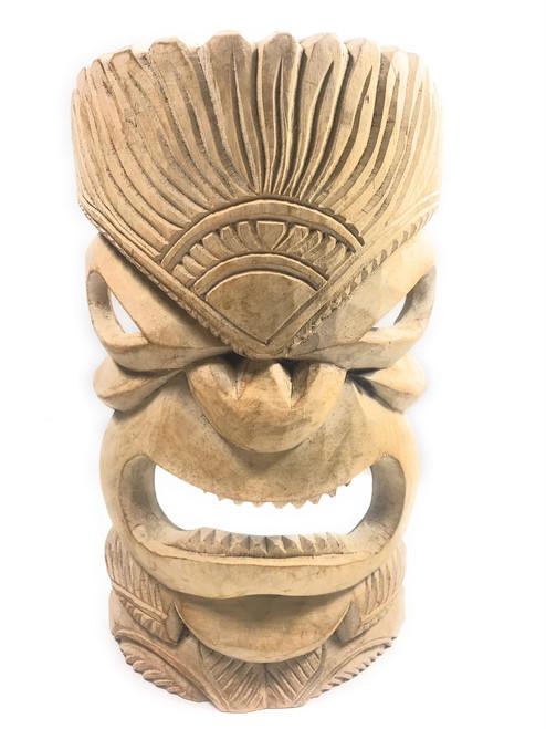 "Hand Carved Tiki Mask 14"" - Hibiscus Wood - Made In Hawaii | #tmmk01"