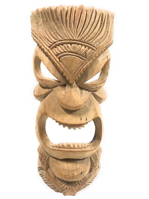 "Hand Carved Tiki Mask 12"" - Hibiscus Wood - Made In Hawaii | #tmmk08"