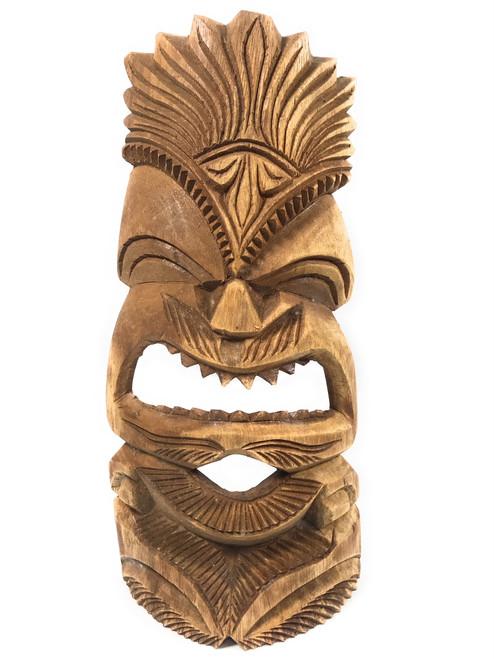 "Carved Tiki Mask 15"" - MonkeypodWood - Made In Hawaii | #tmmk10"