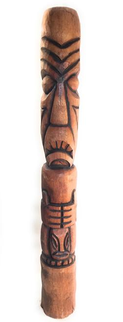 Protection Tiki Outdoor Totem Pole 7' - Burnt Finish | #lbj3036200n3