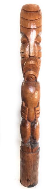 Hang Loose Tiki Outdoor Totem Pole 7' - Natural Finish | #lbj3036200n8