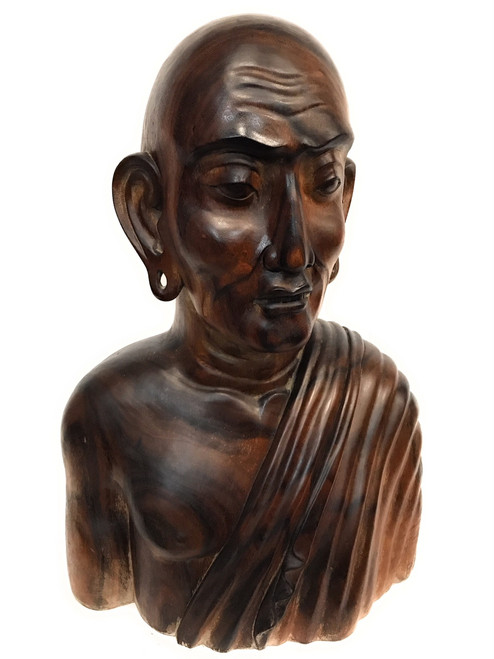 """Exquisite Monk Bust 32"""" Hand Carved   #rta09"""