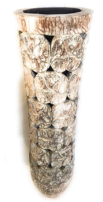 "Copy of Carved Architectural Palm Pot 40"" - Royal Palm | #gdn06"