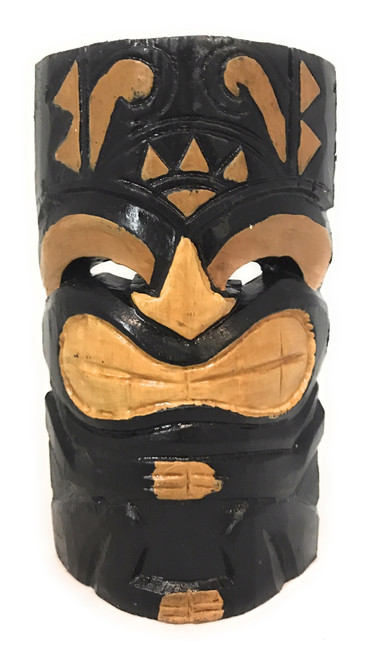 "Happy Tiki Mask 8"" - Hand Carved Smiley Tiki 