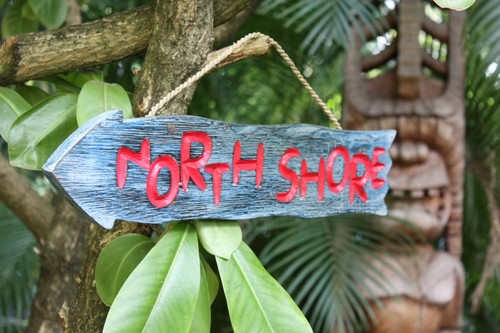"""NORTHSHORE"" DRIFTWOOD SIGN 20"" - POOL DECOR"