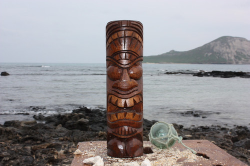 "Love Tiki Totem 10"" - Antique Finish - Hawaii Gifts"