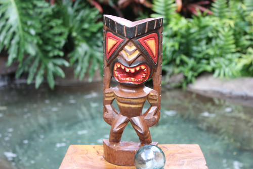 "Happiness Tiki God 12"" - Hand Carved - Hawaii Treasure"