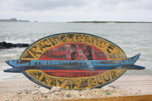 """RACING CANOE, KAYAK CLUB"" WEATHERED SIGN 20"""