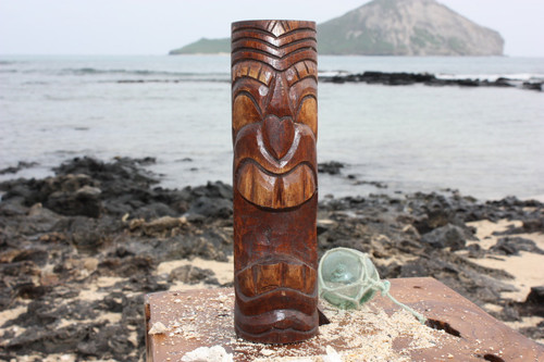 "Vegas Baby Tiki Totem 10"" - Antique Finish - Hawaii Gifts"